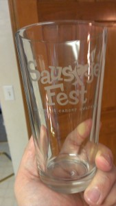 Etched Ale Glass